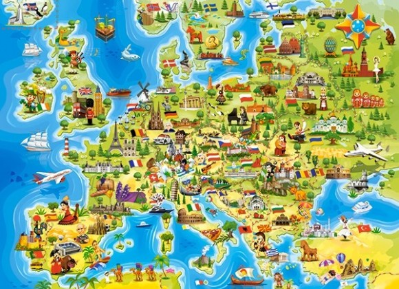 Castorland Puzzle 100 Map of Europe 111060