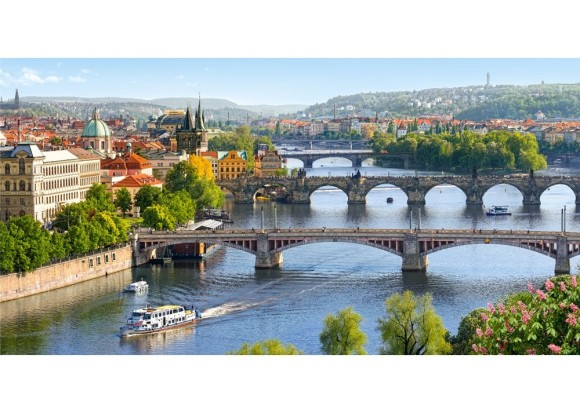 Castorland Puzzle 4000 Vltava sild Prahas 400096