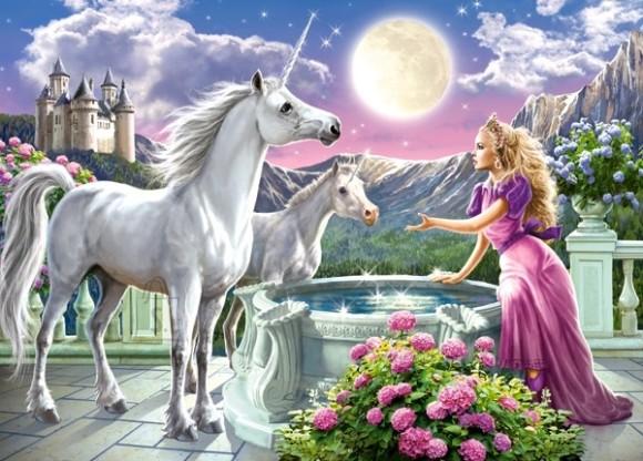 Castorland Puzzle 120 Princess and her Unicorns 13098