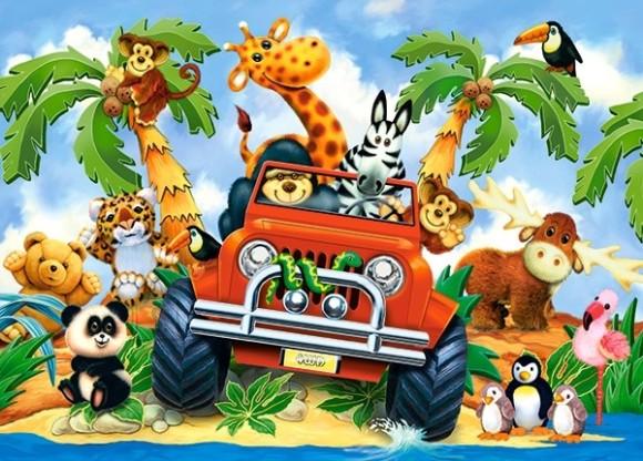 Castorland Puzzle 60 Softies on Safari 06793
