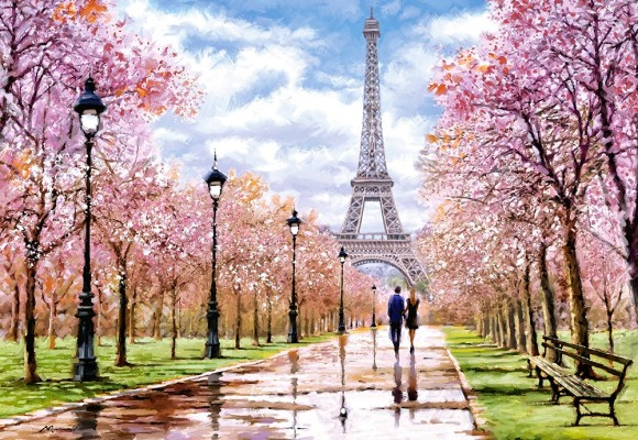 Castorland Puzzle 1000 Romantic Walk in Paris 104369
