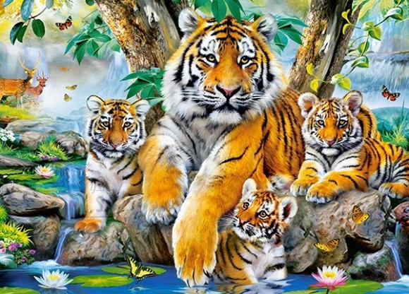 Castorland Puzzle 120 Tigers by the Stream 13517