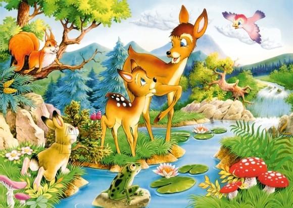 Castorland Puzzle 120 Little deers 12725