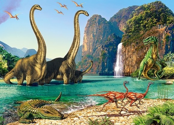 Castorland Puzzle 60 In the Dinosaurus World 06922