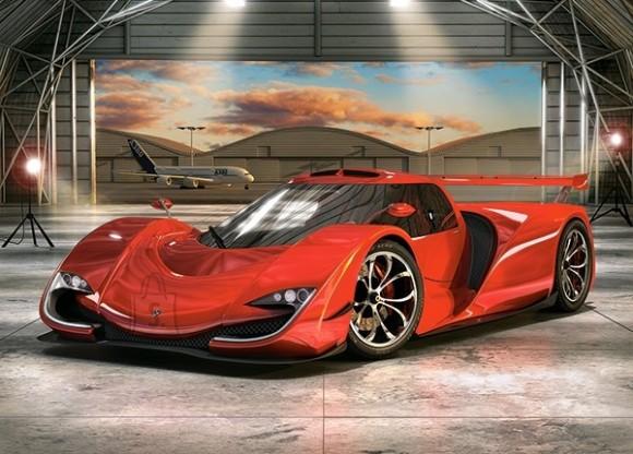 Castorland Puzzle 60 Concept Car in Hangar 066162
