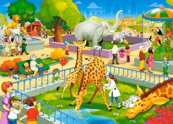 Castorland Puzzle 60 Zoo Visit 066155