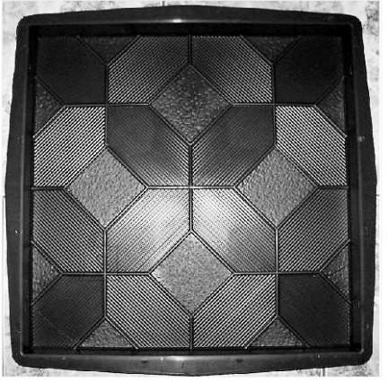 PLASTVORM PLAAT 50x50x5cm (riffel)