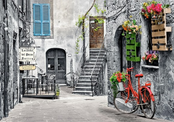Castorland Puzzle 500 CHARMING ALLEY WITH RED BICYCLE 53339