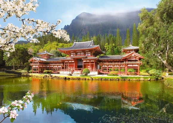 Castorland Puzzle 1000 REPLICA OF THE OLD BYODOIN TEMPLE 101726