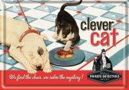 NostalgicArt metallist postkaart Clever cat