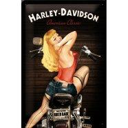 NostalgicArt metallplaat Harley-Davidson Baker Babe
