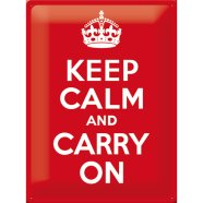 NostalgicArt metallplaat Keep Calm And Carry On