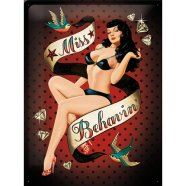 NostalgicArt metallplaat Pin Up Miss Behavin´