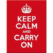 NostalgicArt külmkapimagnet Keep Calm And Carry On