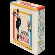 NostalgicArt Metallist säilituskarp Breakfast at Tiffany´s Audrey Hepburn 4 L