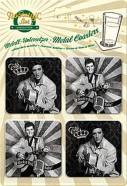 NostalgicArt retrostiilis klaasialused Elvis 4tk