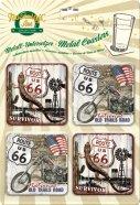 NostalgicArt retrostiilis klaasialused Route 66 4tk