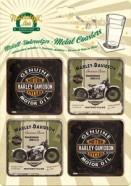 NostalgicArt retrostiilis klaasialused Harley-Davidson Motorcycles 4tk