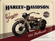 NostalgicArt metallplaat Harley-Davidson 750 Flathead