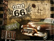 NostalgicArt metallplaat Route 66