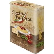 NostalgicArt Metallist säilituskarp Cucina Italiana 4 L