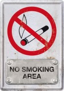 NostalgicArt metallist postkaart No Smoking Area