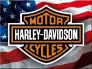 NostalgicArt külmkapimagnet Harley-Davidson Ameerika lipp