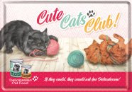 NostalgicArt metallist postkaart Cute Cats Club!