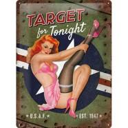 NostalgicArt metallplaat Target for Tonight