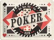 NostalgicArt metallplaat Poker Club