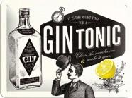 NostalgicArt metallplaat Gin Tonic