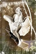 NostalgicArt metallplaat Marilyn Monroe Hollywood