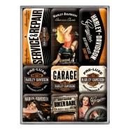 NostalgicArt magnetite sari Harley-Davidson Garage Babes