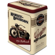 NostalgicArt Metallist säilituskarp Harley-Davidson 750 Flathead 3L