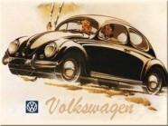 NostalgicArt magnet VW Volkswagen Põrnikas must