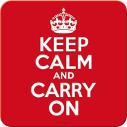 NostalgicArt retro klaasialus Keep calm and carry on