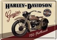 NostalgicArt metallist postkaart Harley-Davidson 750 Flathead