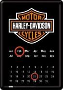 NostalgicArt metallist postkaart Harley-Davidson kalender