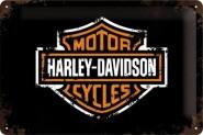 NostalgicArt metallplaat Harley-Davidson logo