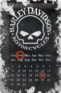 NostalgicArt retro stiilis kalender Harley-Davidson Skull