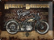 NostalgicArt metallplaat Harley-Davidson Genuine