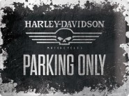 NostalgicArt metallplaat Harley-Davidson Skull Parking only