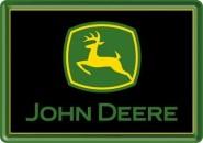 NostalgicArt metallist postkaart John Deere logo Must