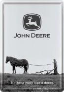 NostalgicArt metallist postkaart John Deere Nothing runs like a deere