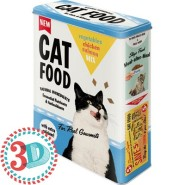 NostalgicArt Metallist säilituskarp 3D Cat Food 4L