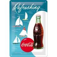 NostalgicArt metallplaat Coca-Cola Refreshing Purjekas