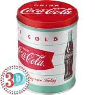 NostalgicArt Metallist säilituspurk 3D Coca-Cola Ice cold 1L