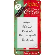 NostalgicArt magnetiga kirjaplokk Coca-Cola 5c Delicious Refreshing
