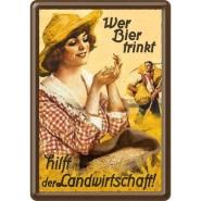 NostalgicArt metallist postkaart Wer Bier trinkt