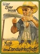 NostalgicArt metallplaat Wer Bier trinkt